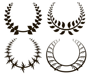 gold laurel wreath.  vector illustration