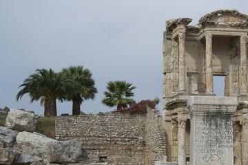 Palmen an der Celsius Bibliothek in Ephesos