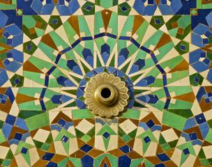 Moroccan Tile framed fountain