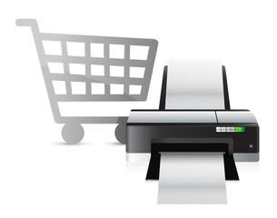 printer shopping concept