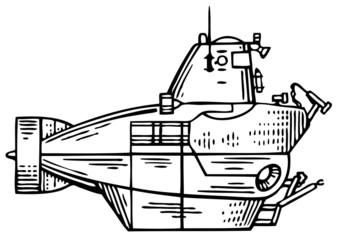 Old bathyscaphe