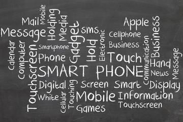 smarth phone word cloud