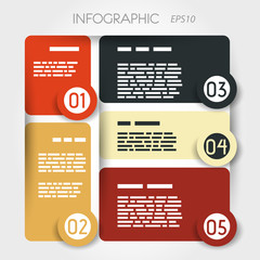 rounded square presentation infographic