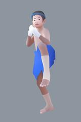Muay Thai or Thai boxing boy