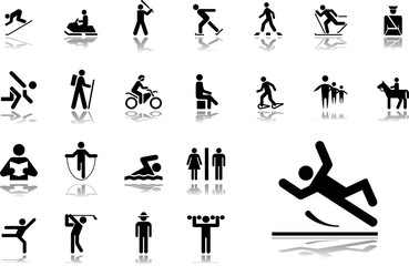 Big set icons - 33. Pictographs of people