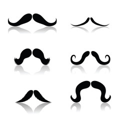 Set of Mustaches