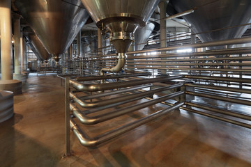 Fermentation department, interior of the brewery