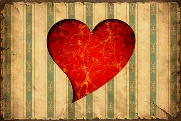 Retroplakat - Rote Liebe