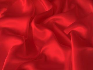Draped red silk background