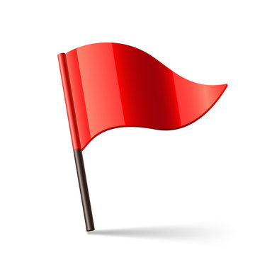 Vector Red Flag