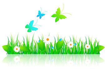 Beautiful green spring illustration