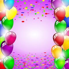 Luftballon Party Hintergrund lila