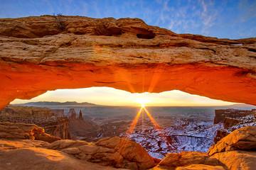 Garden Poster Brown Mesa Arch, Utah