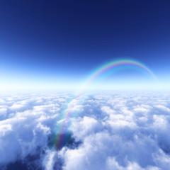青空と雲海