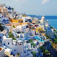 beautiful romantic Santorini