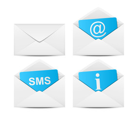 Set of mail icons