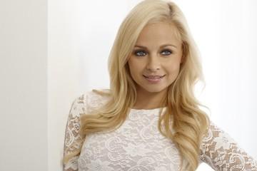 Closeup portrait of beautiful blonde woman