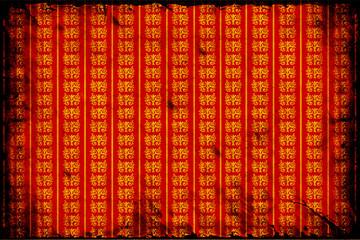Retroplakat - Goldene Muster