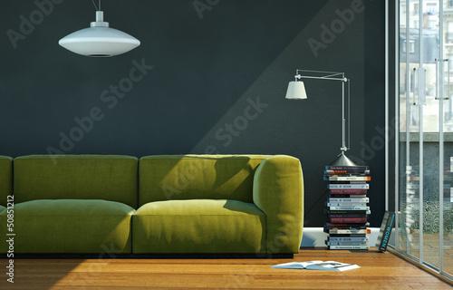 modernes sofa gr n fotos de archivo e im genes libres de. Black Bedroom Furniture Sets. Home Design Ideas