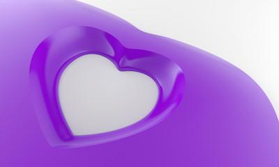 Violette Herzform in 3D