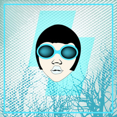 Ice Girl, Flyer for an Indie Club or DJ Set