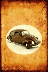 Fond de hotte en verre imprimé Affiche vintage Retroplakat - Alter Käfer
