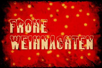 Fond de hotte en verre imprimé Affiche vintage Retroplakat - Frohe Weihnachten