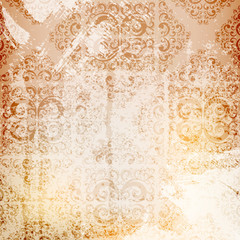 grungy ornamented background, eps10 layered vector