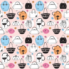 Bags seamless pattern