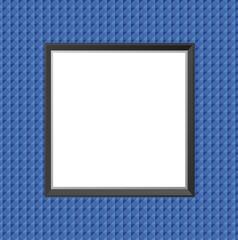 Cadre gaufrage bleu