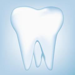 tooth design element. vector mesh illustration