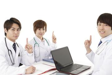 医療イメージ,3人