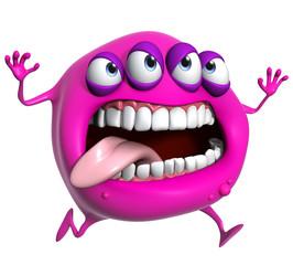 Recess Fitting Sweet Monsters 3d cartoon pink monster
