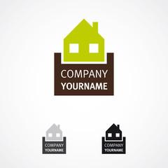 Hausbau Logo Haus grafisch