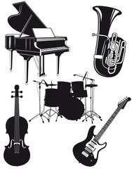 Orchester Musikinstrumente