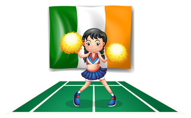 The flag of Ireland and the cheerdancer