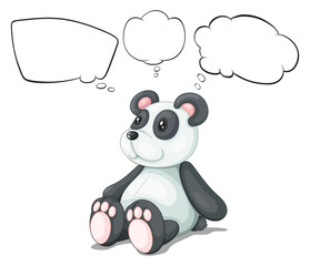 A toy panda with empty thoughts