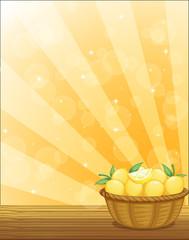 A basket full of lemons