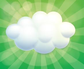 A cloud-designed empty template