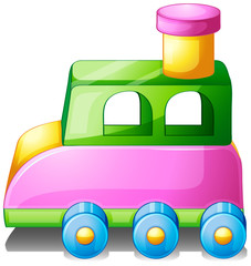 A colorful toy car