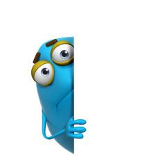 Recess Fitting Sweet Monsters 3d cartoon cute blue monster
