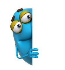 Wall Murals Sweet Monsters 3d cartoon cute blue monster