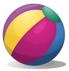 A colorful inflatable beach ball