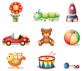 Different kinds of toys for children