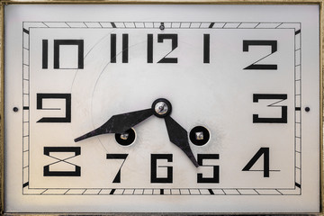 Art deco clockface from the early twentieth century