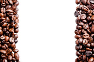 coffee beans with space for text