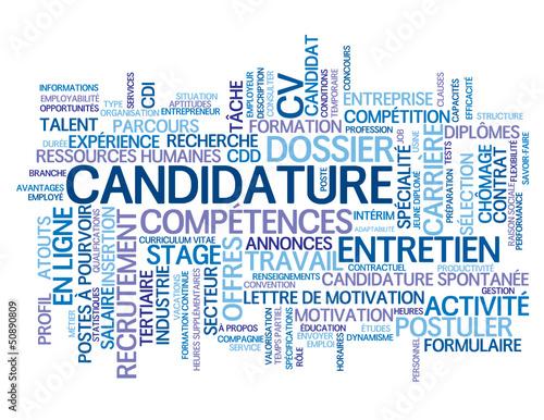 u0026quot nuage de tags candidature  candidat emploi postuler