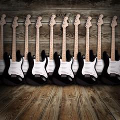 electric guitars in the room