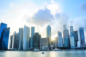 Foto op Plexiglas Singapore Singapore downtown