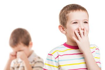 Children in conflict quarrel